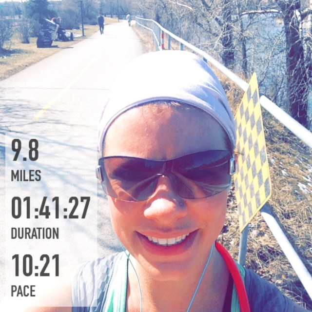 Saturday's run in the sun after snow on Friday