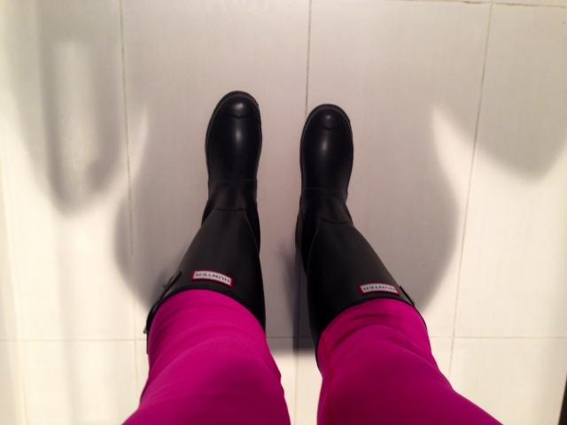 Black Hunter Rain Boots Cowgirl Runs